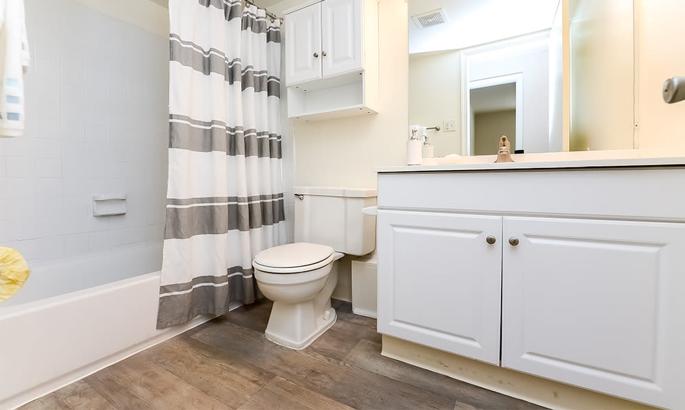 Bathroom at Waterview Apartments in West Chester, Pennsylvania