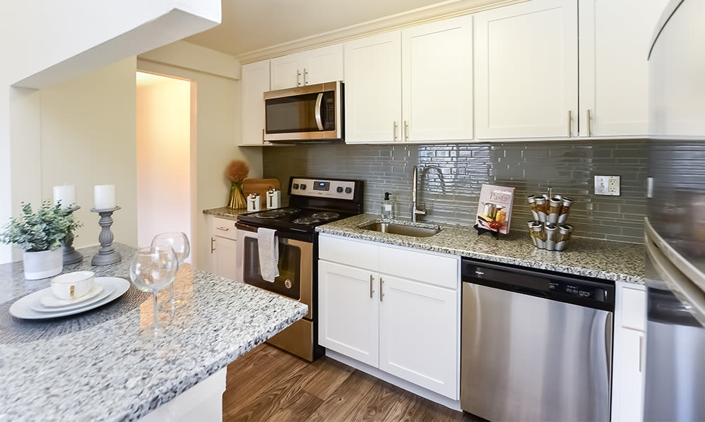 Beautiful Kitchen at Waterview Apartments in West Chester, Pennsylvania