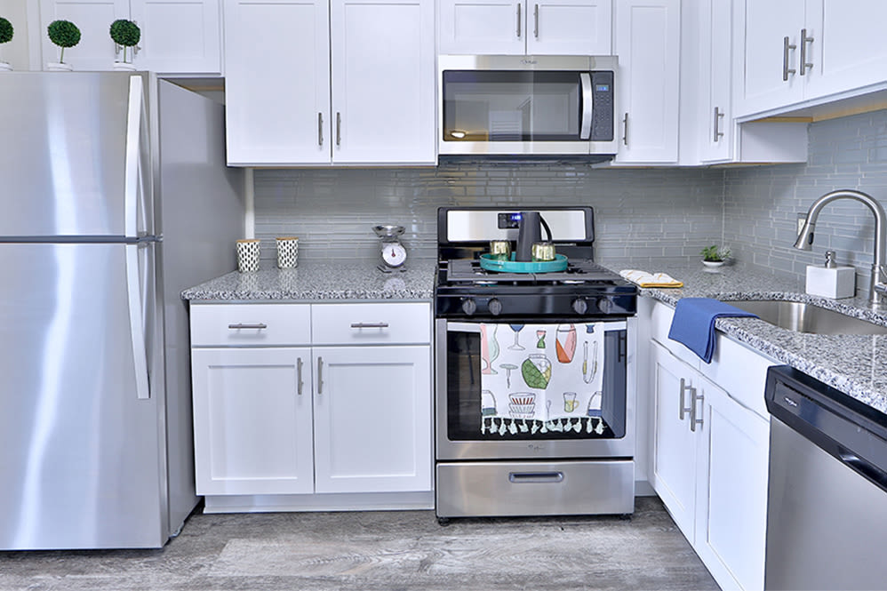 Spacious kitchen at East Meadow Apartments in Fairfax, Virginia