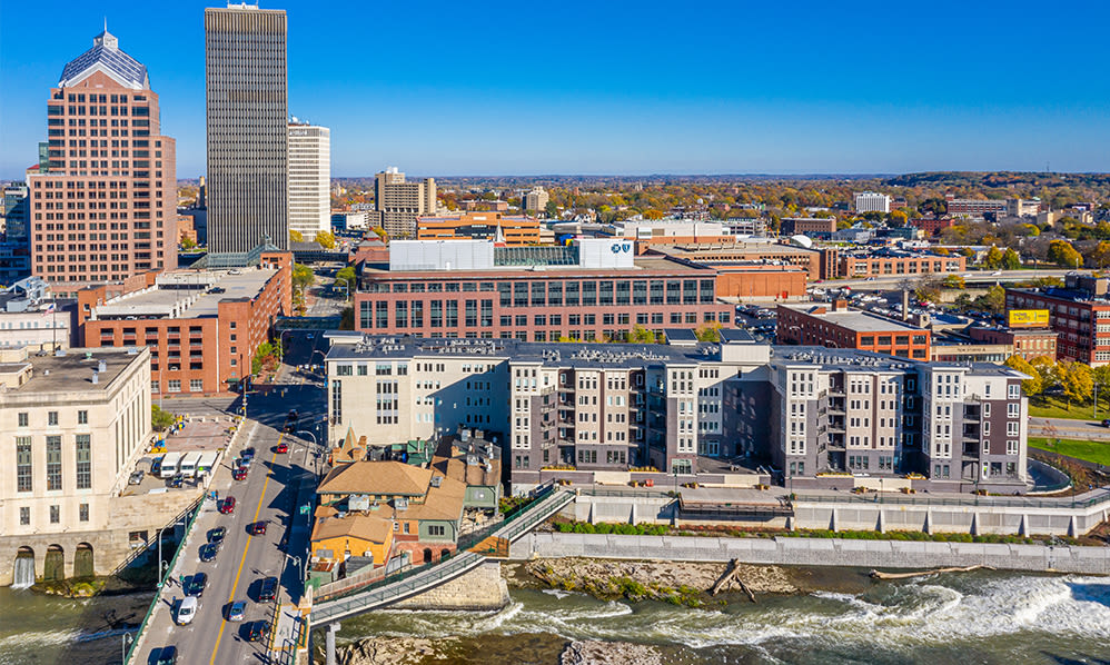 Rochester, New York skyline view from The Nathaniel