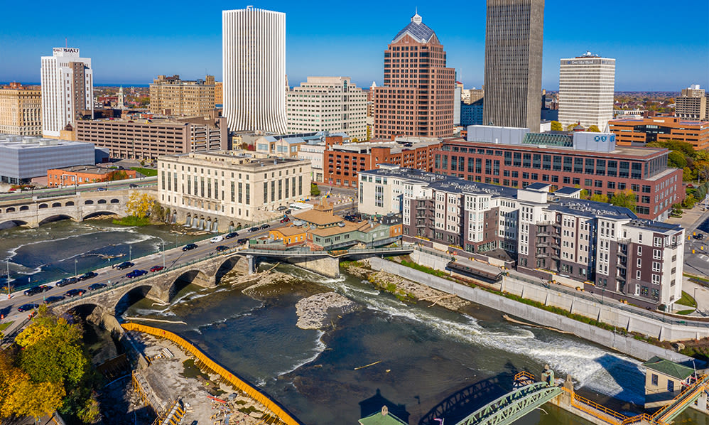 Stunning view of Rochester, New York from The Nathaniel