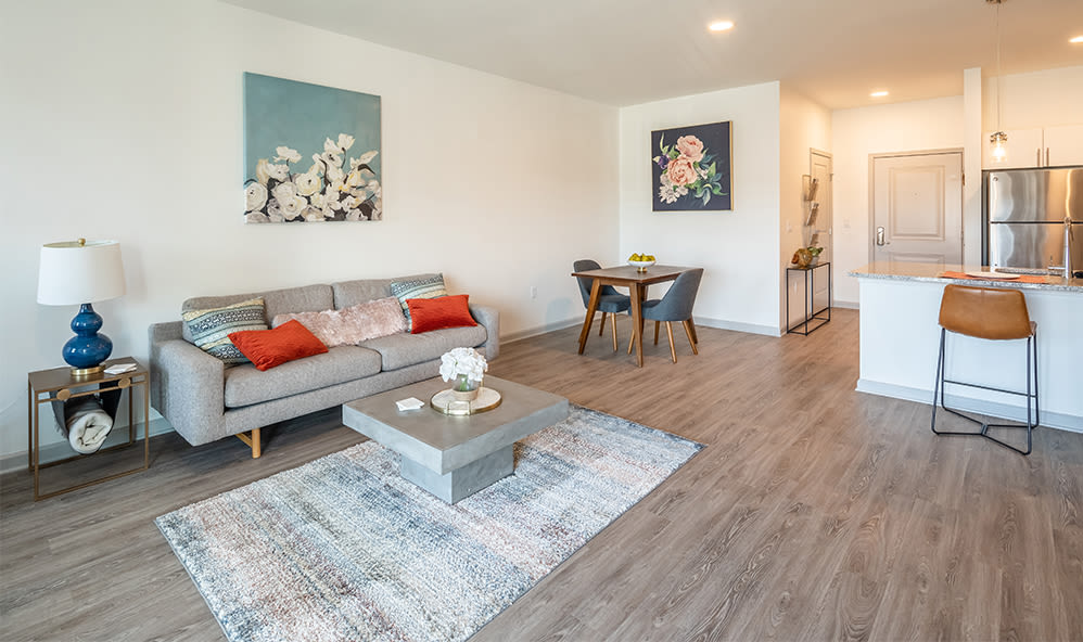 Enjoy apartments with a modern living room at Winding Creek Apartments in Webster, New York