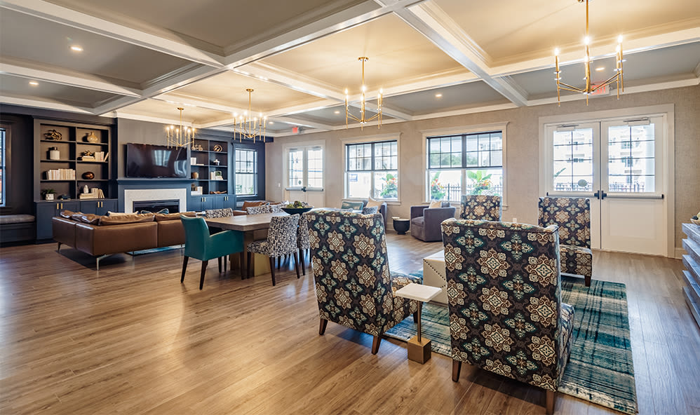 A clubhouse that is great for entertaining at Winding Creek Apartments in Webster, New York
