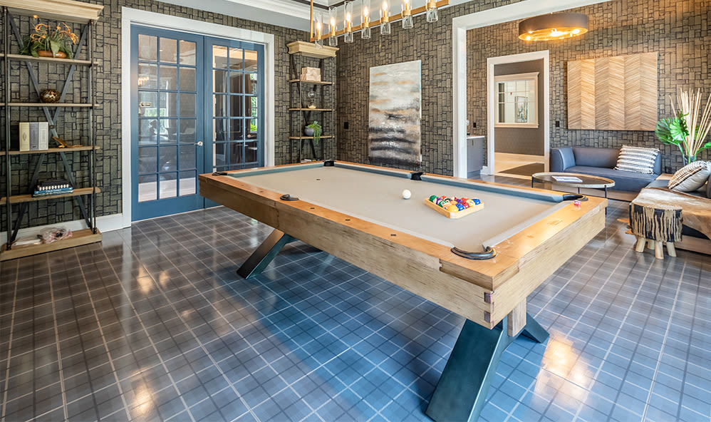 Beautiful billiards table at Winding Creek Apartments in Webster, New York