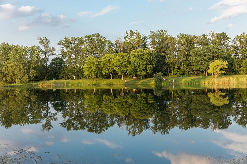 Lake at North Ponds Park in Webster, New York near Winding Creek Apartments