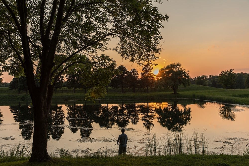 Sunset at North Ponds Park in Webster, New York near Winding Creek Apartments