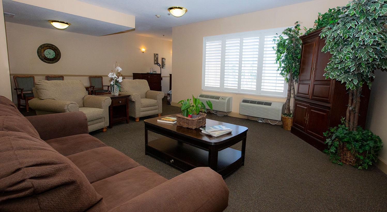 Lounge at Hibiscus Court Senior Living