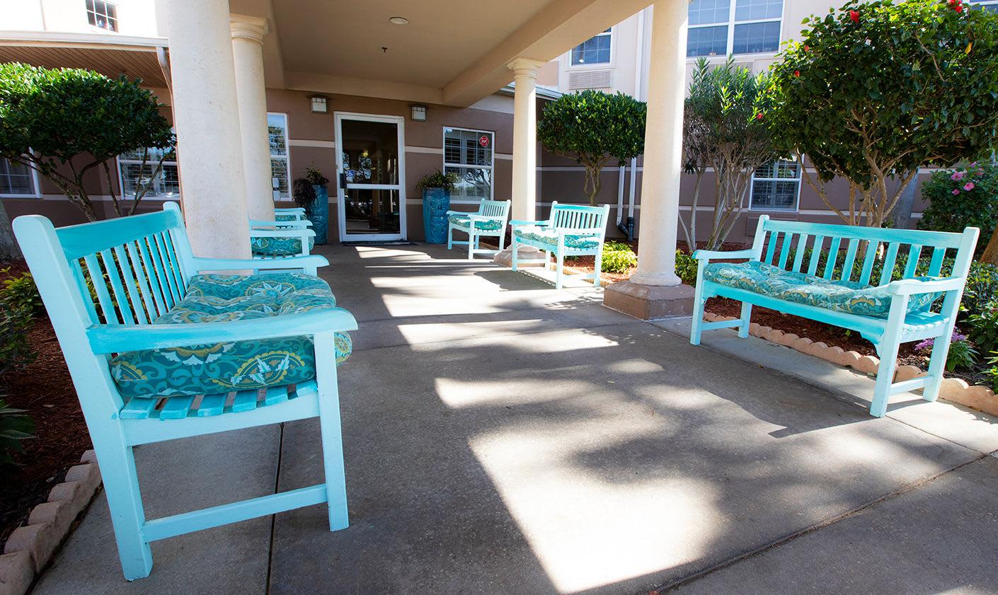 Outdoor Area at Hibiscus Court Senior Living