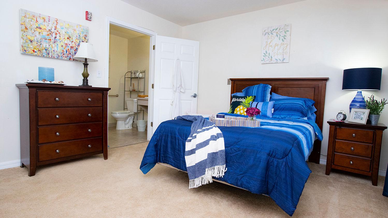 Bedroom at Savannah Grand of Maitland Senior Living