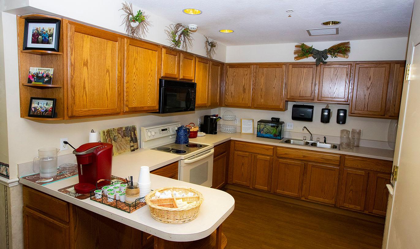Kitchen at Savannah Grand of Maitland Senior Living