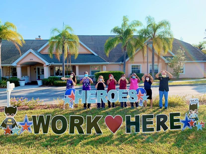 Staff at Savannah Cottage of Lakeland - Heroes Work Here