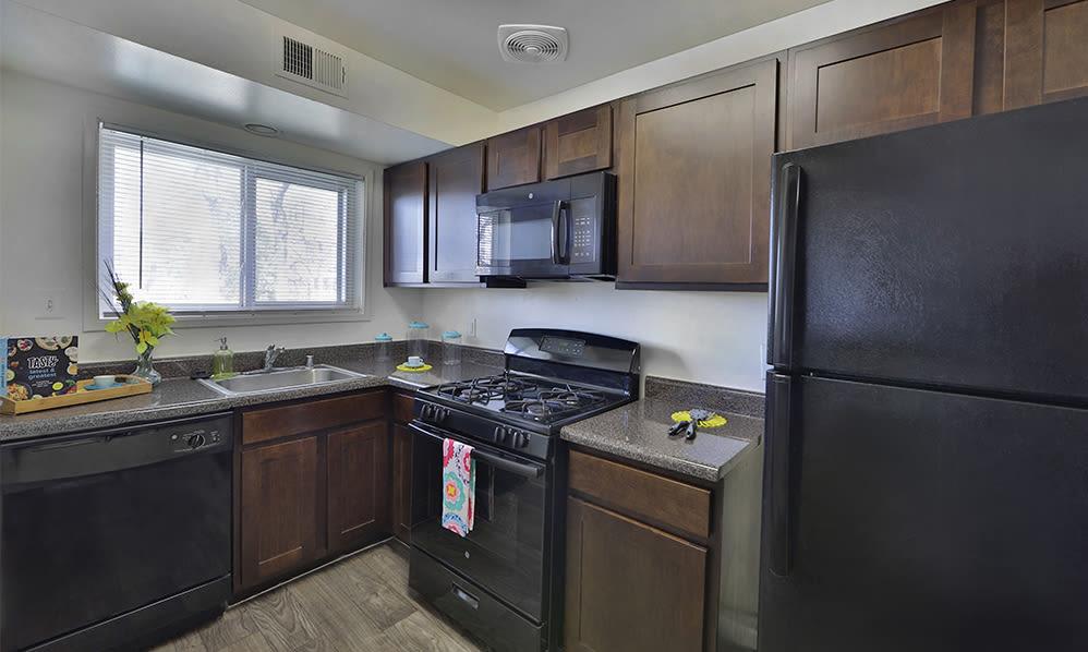 Kitchen at Lynbrook at Mark Center Apartment Homes in Alexandria, VA