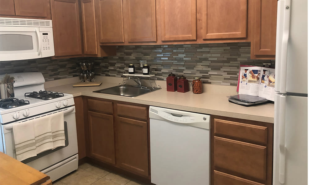 Kitchen at Willowbrook Apartments in Jeffersonville, Pennsylvania