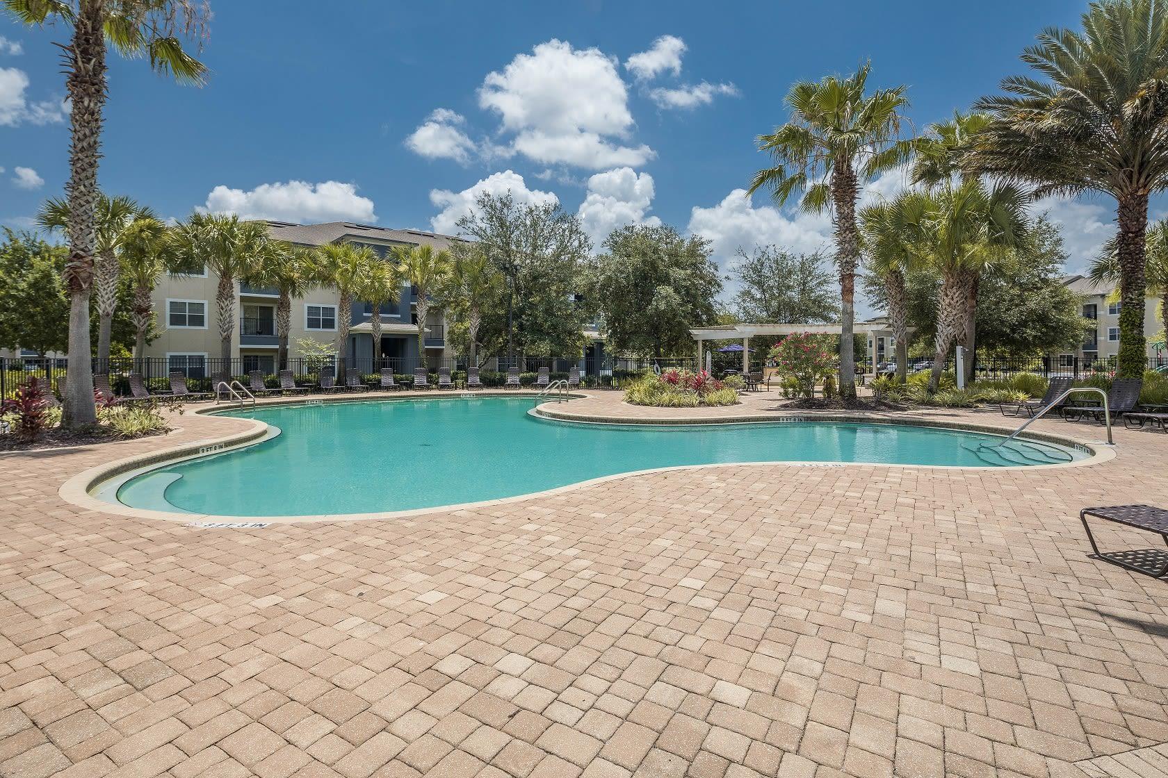 Resort style pool at Mezza in Jacksonville, Florida