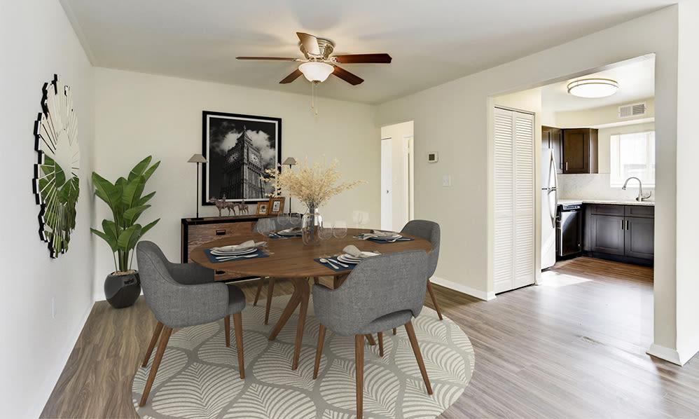 Model Dining Room at Glen Ridge Apartment Homes in Glen Burnie, Maryland
