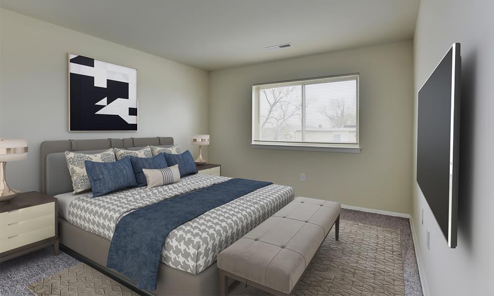Bedroom at Glen Ridge Apartment Homes in Glen Burnie, Maryland