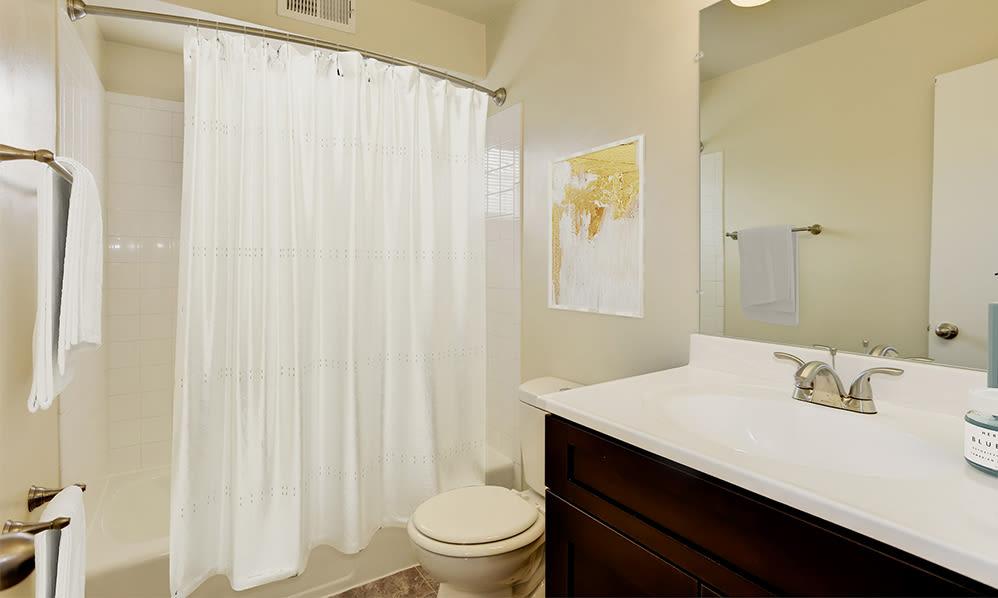 Bathroom at Glen Ridge Apartment Homes in Glen Burnie, Maryland