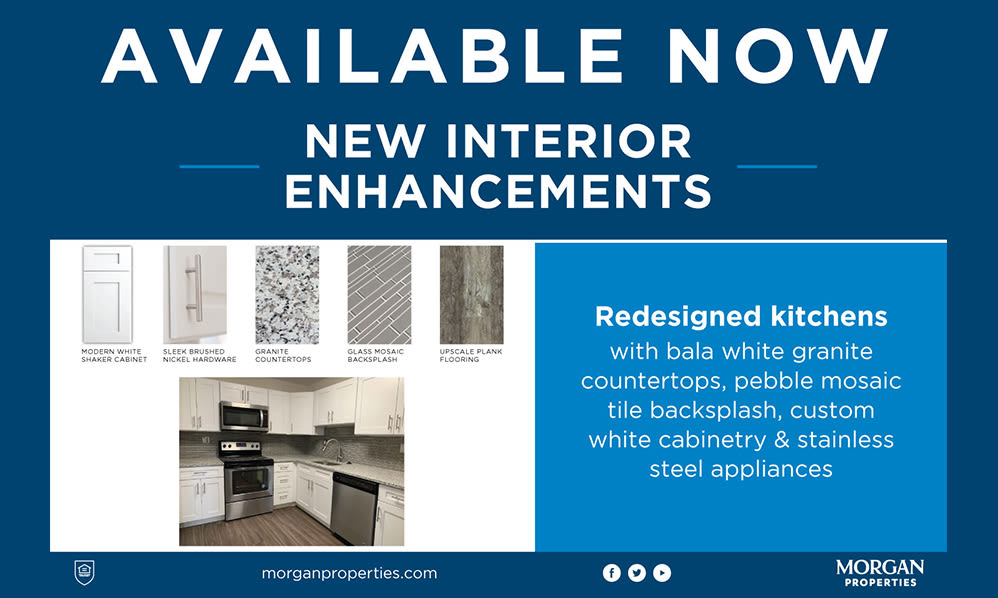 New Interior Enhancements at Our Apartments in Jeffersonville, Pennsylvania