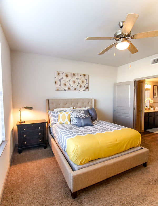 Master bedroom at Olympus Auburn Lakes in Spring, Texas