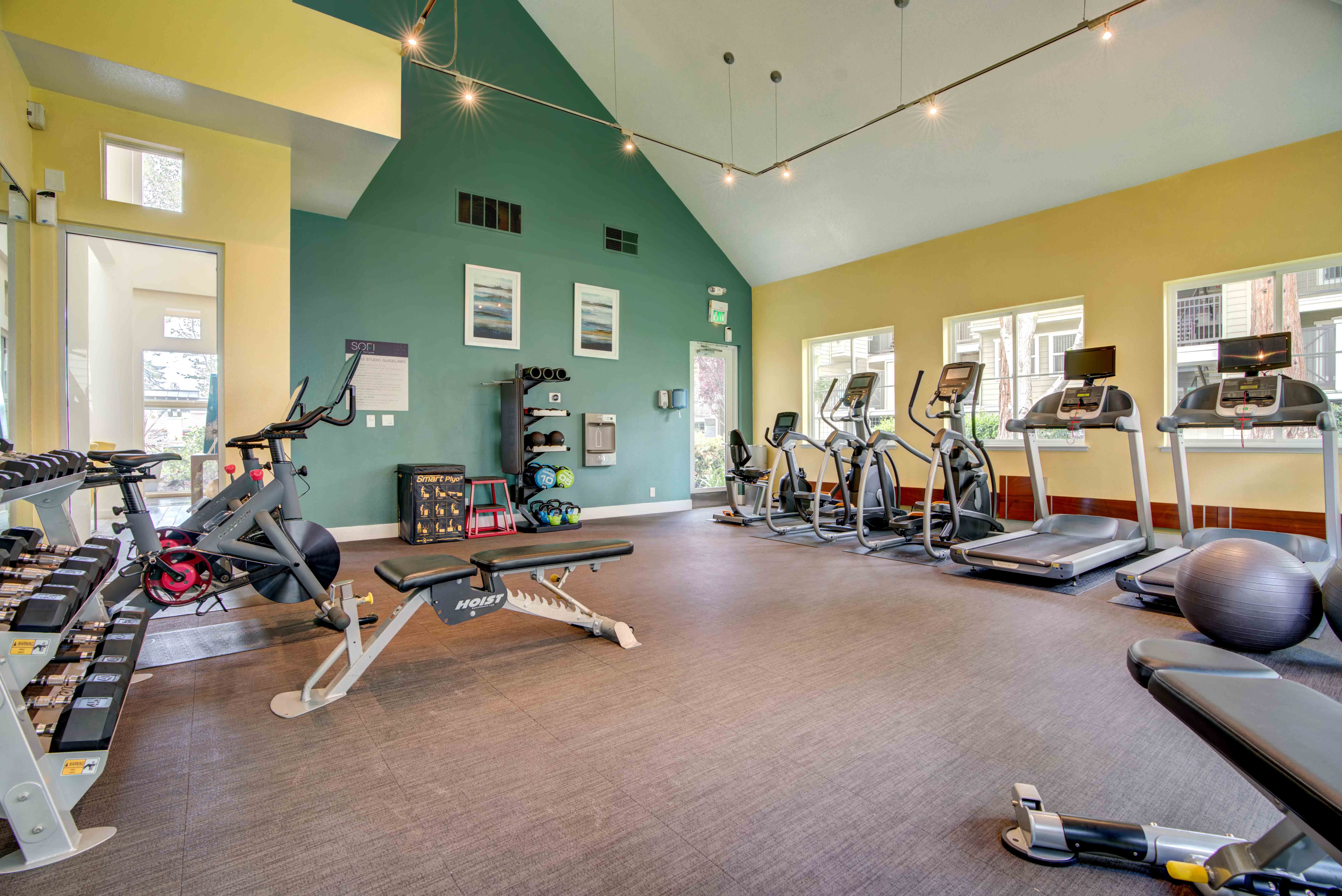 Onsite fitness center at Sofi Sunnyvale in Sunnyvale, California