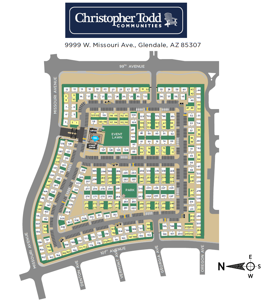 Christopher Todd Communities At Stadium site plan