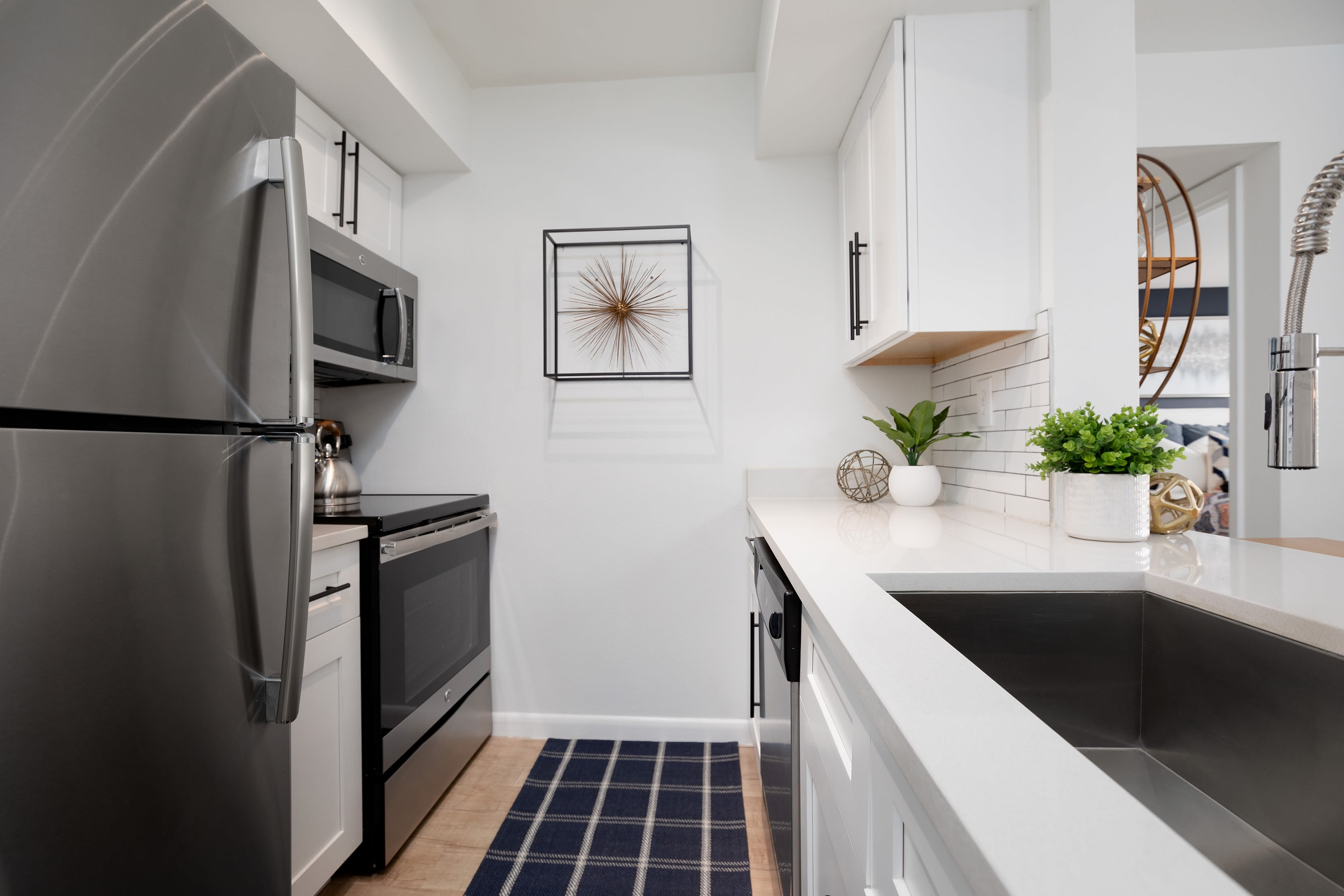 Resident kitchen at Cielo Boca in Boca Raton, Florida