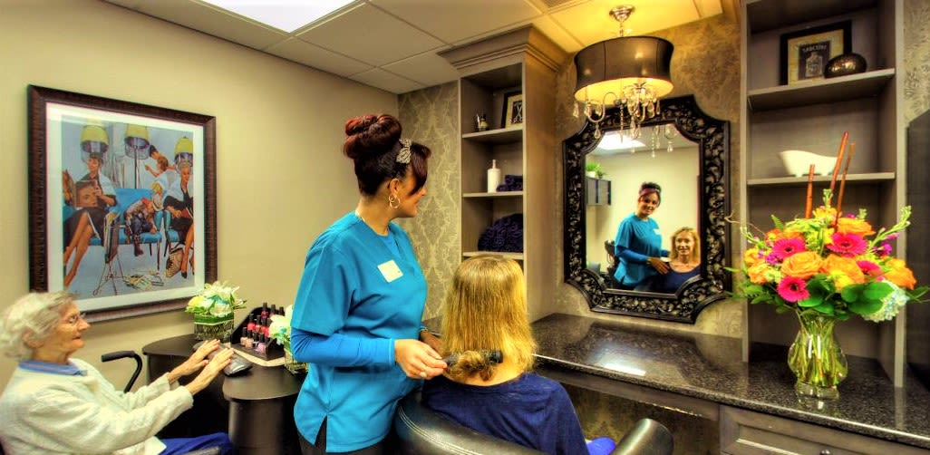 Onsite resident salon at Inspired Living Tampa in Tampa, Florida.