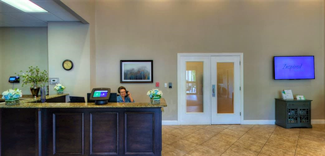 Main Lobby at Inspired Living at Tampa in Tampa, Florida.