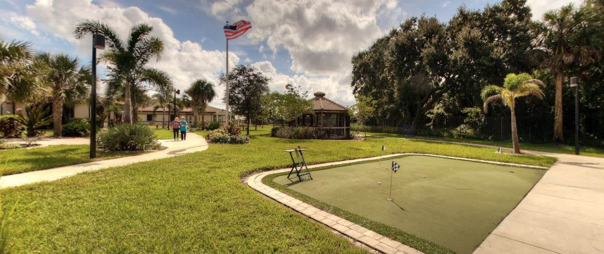 Putting Green at Inspired Living Tampa in Tampa, Florida