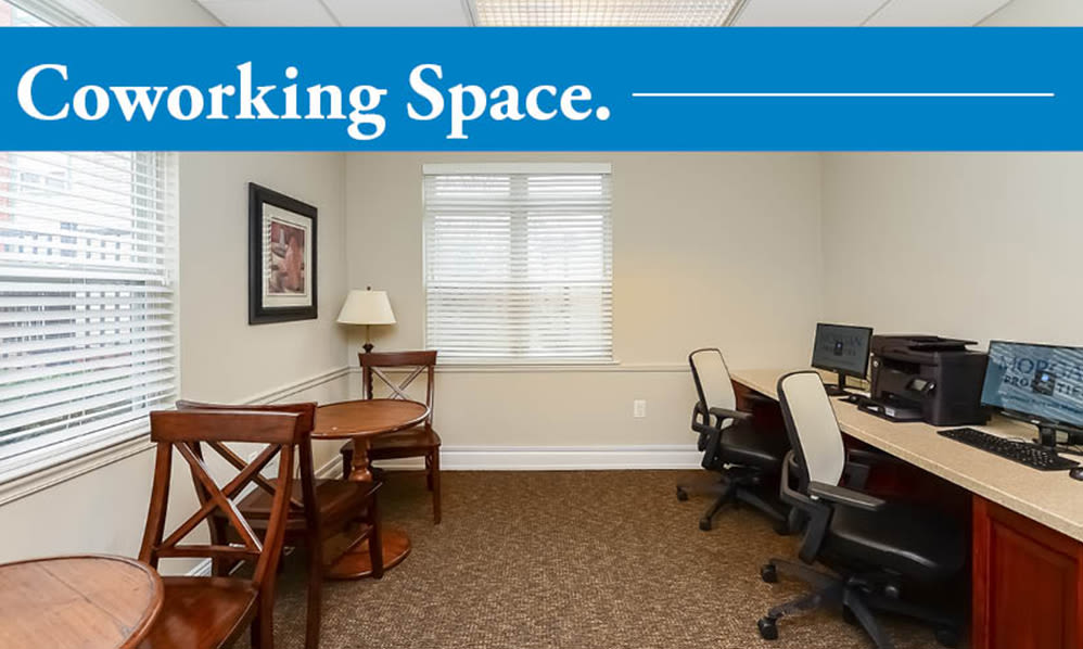 Our Apartments in Cherry Hill, New Jersey offer a Coworking Space
