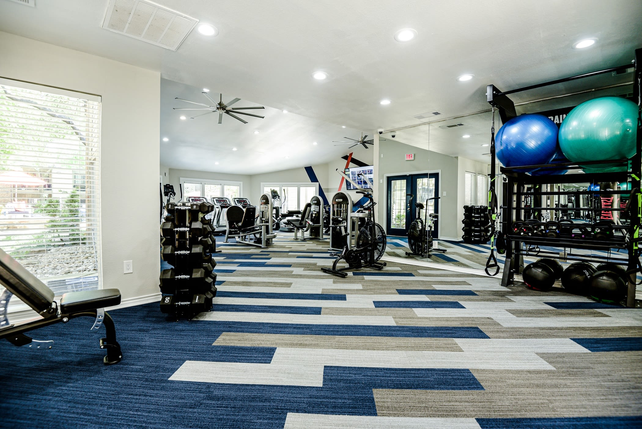 Fitness gym at The Regent in Dallas, Texas