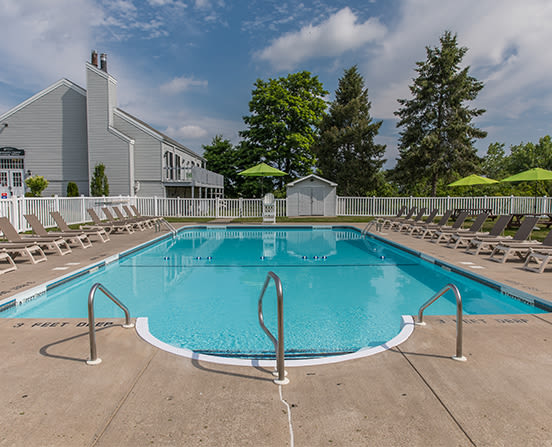 Swimming pool at The Meadows Apartments in Syracuse, New York