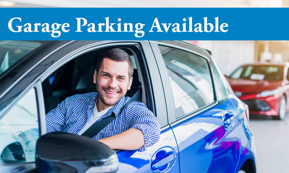 Garage parking available at Parkview at Collingswood Apartment Homes in Collingswood, New Jersey