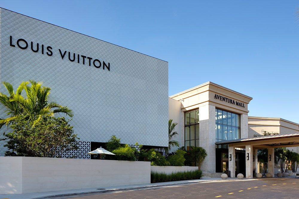 Louis Vuitton and more luxury retail outlets near Aliro in North Miami Beach, Florida