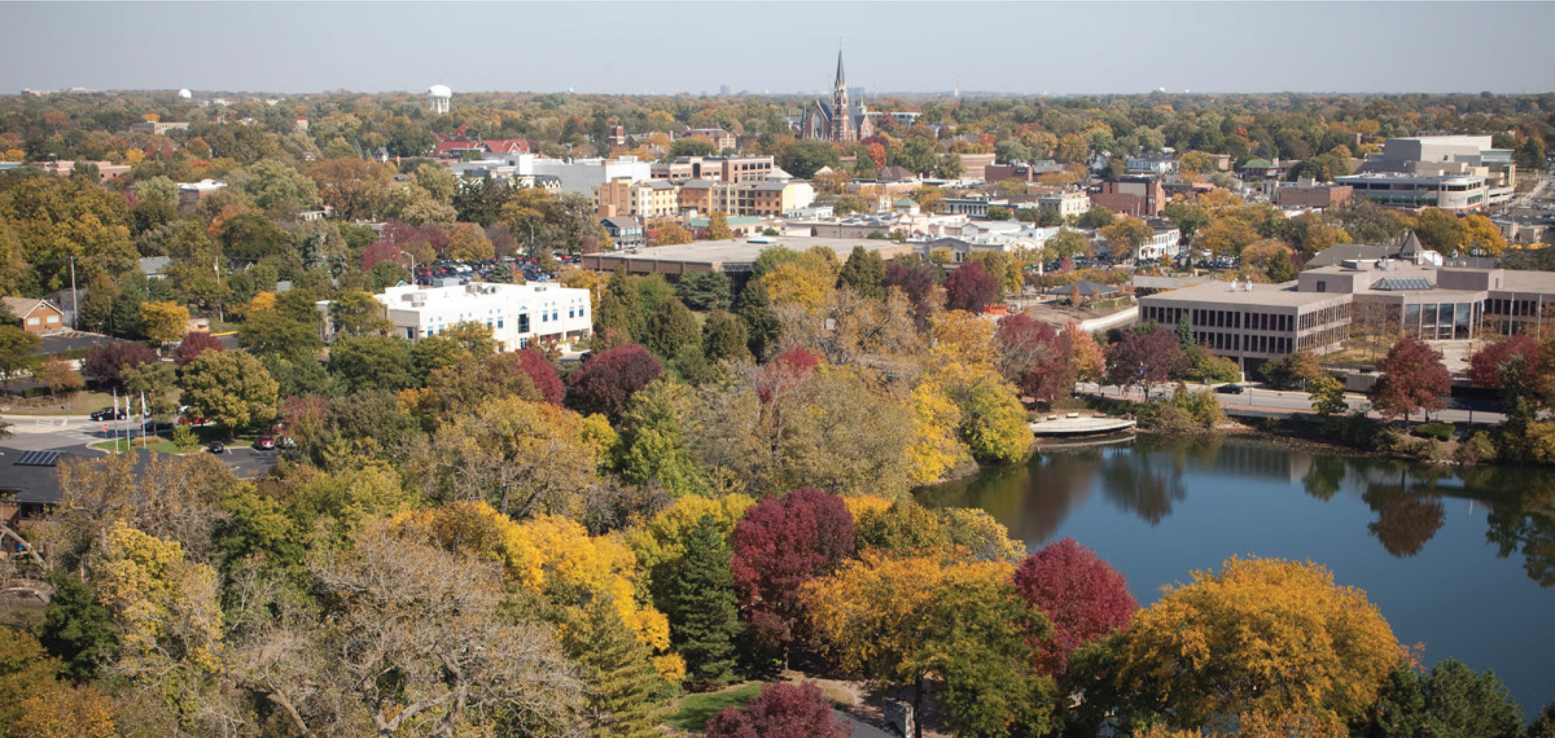 View of Naperville, Illinois Neighborhood