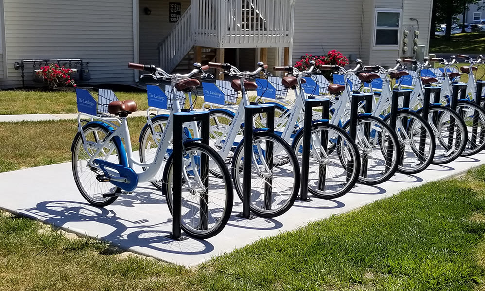 Bike share at The Landings Apartment Homes in Absecon, New Jersey