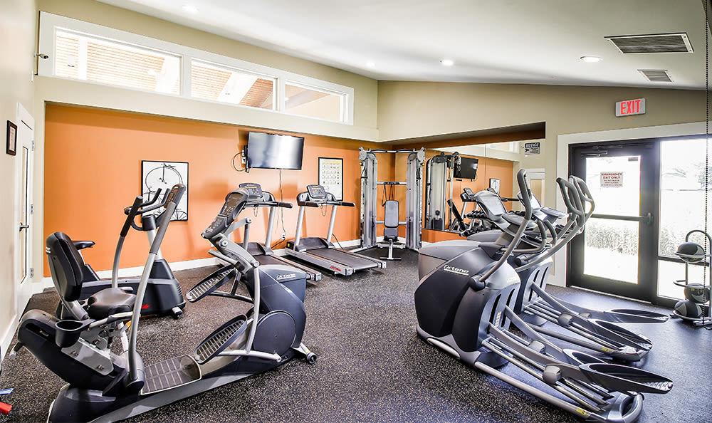 Fitness center at Penbrooke Meadows in Penfield, New York