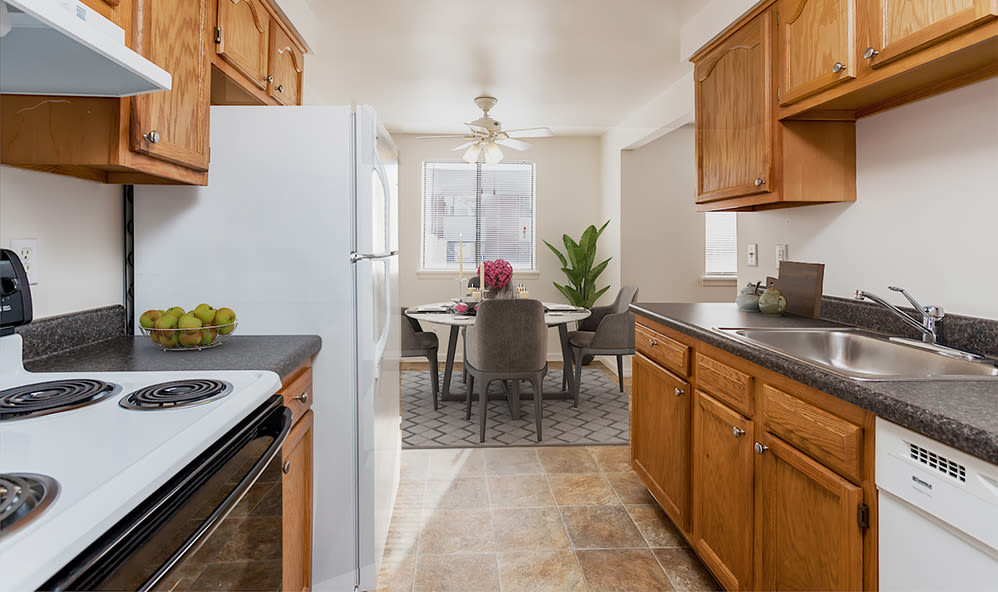 Kitchen at East Ridge Manor Apartments in Rochester, New York