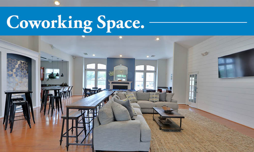 Coworking space at The Apartments at Diamond Ridge in Baltimore, MD