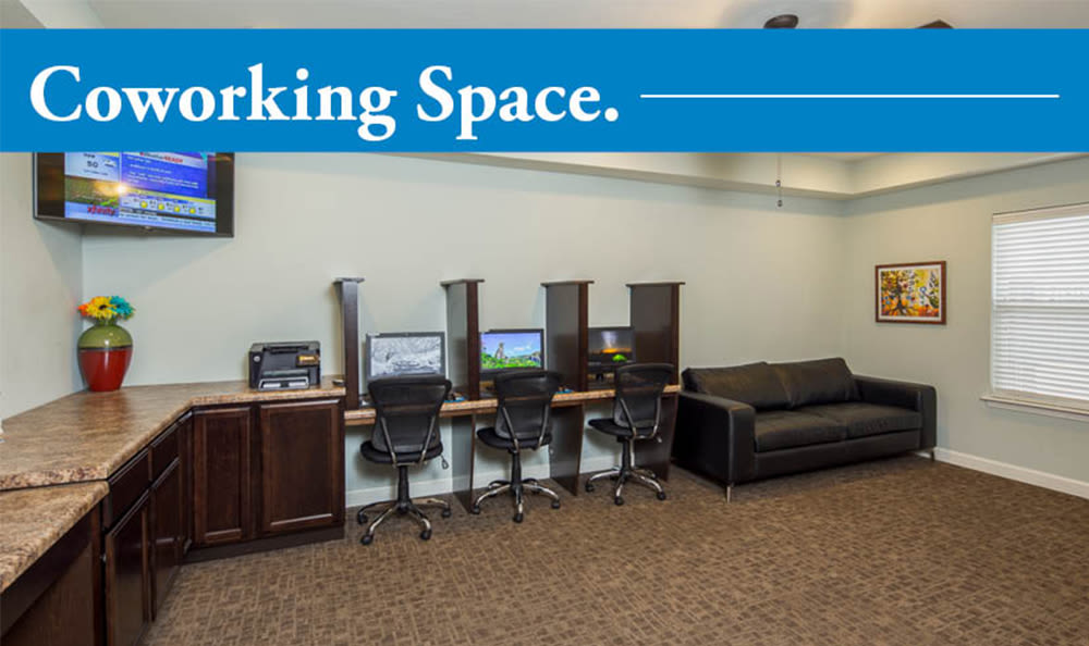 Coworking space at  Crescent at Wolfchase in Memphis, Tennessee