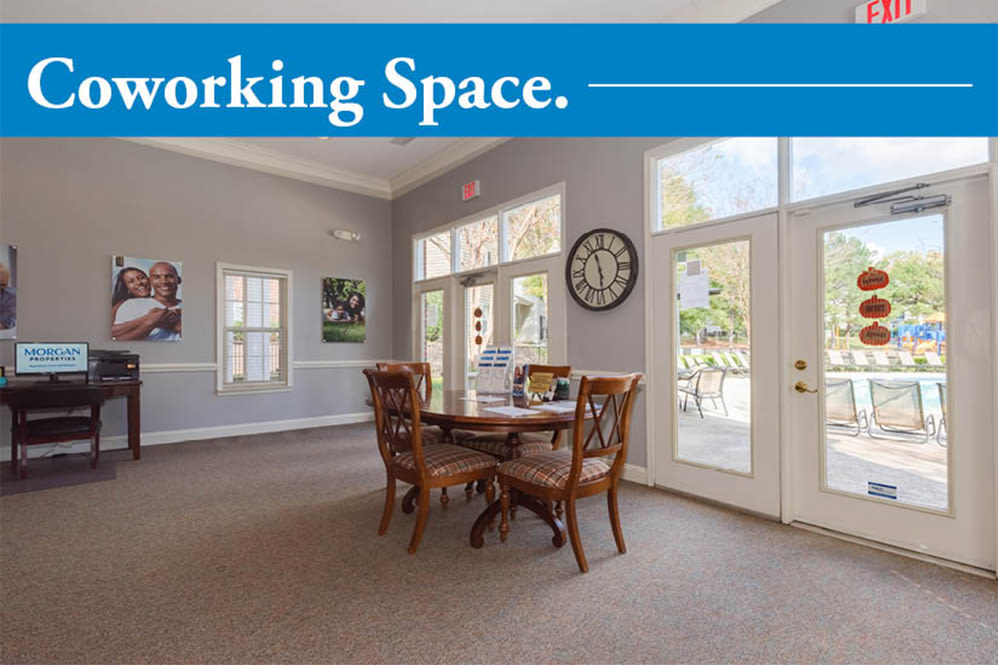 Coworking space at Forest Oaks Apartment Homes