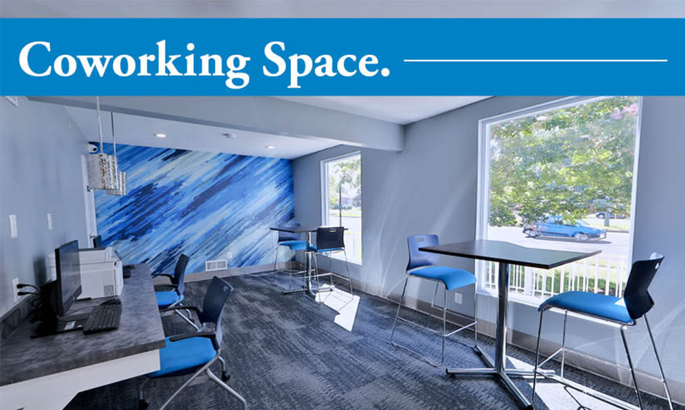 Coworking space at Gwynn Oaks Landing Apartments & Townhomes, MD