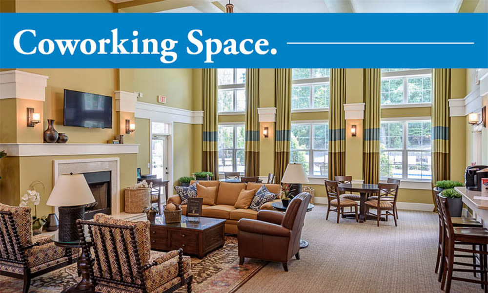 Coworking area at Heather Park Apartment Homes