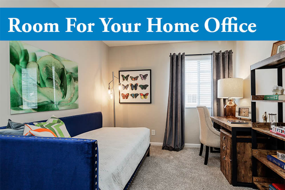 Home office space at Jackson Grove Apartment Homes in Hermitage, TN