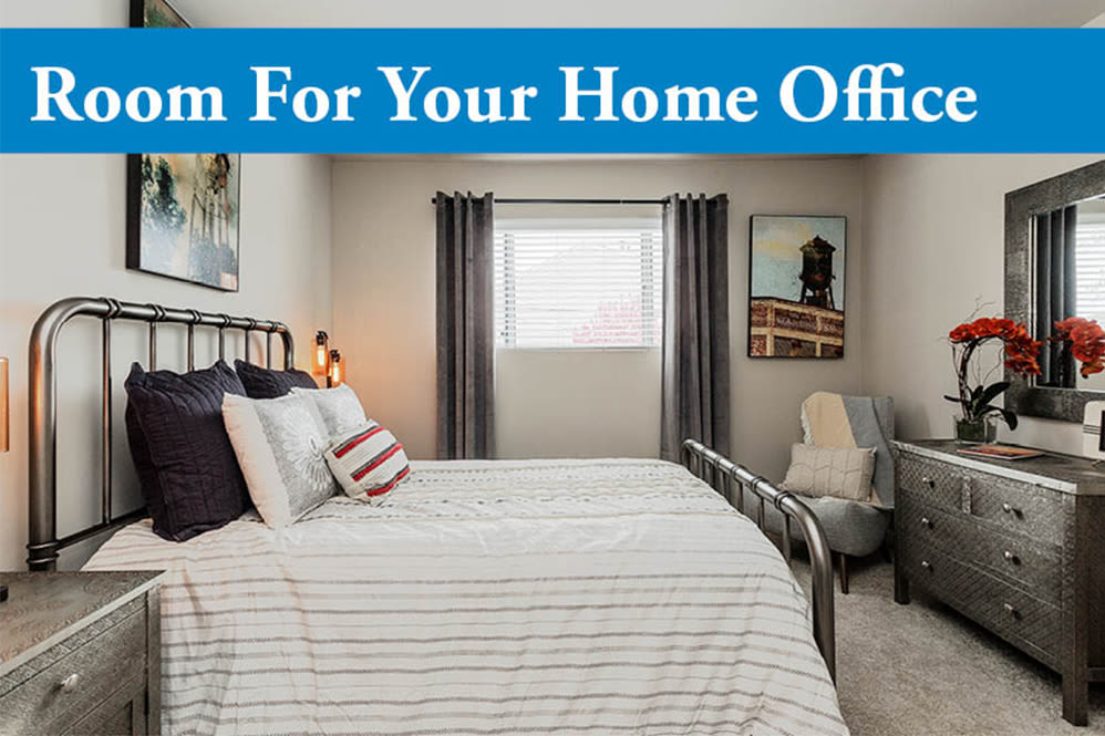 Home office space at Lincoya Bay Apartments & Townhomes in Nashville, Tennessee