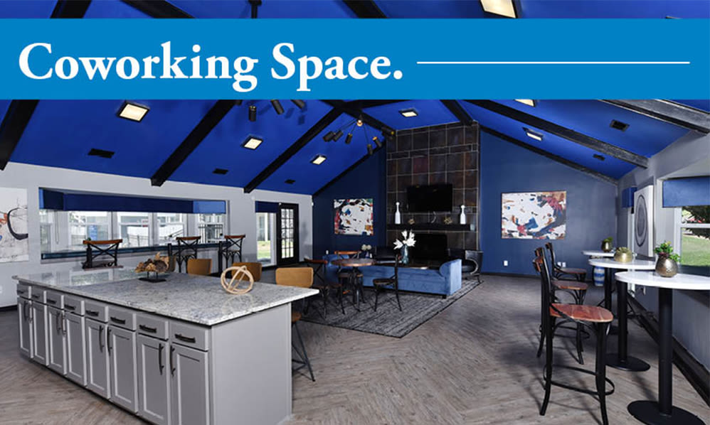 Coworking space at Mallards Landing Apartment Homes in Nashville, Tennessee
