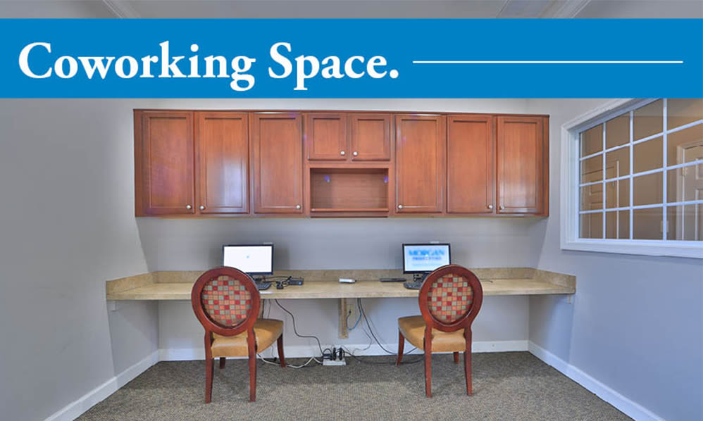 Coworking space at The Preserve at Owings Crossing Apartment Homes in Reisterstown, Maryland