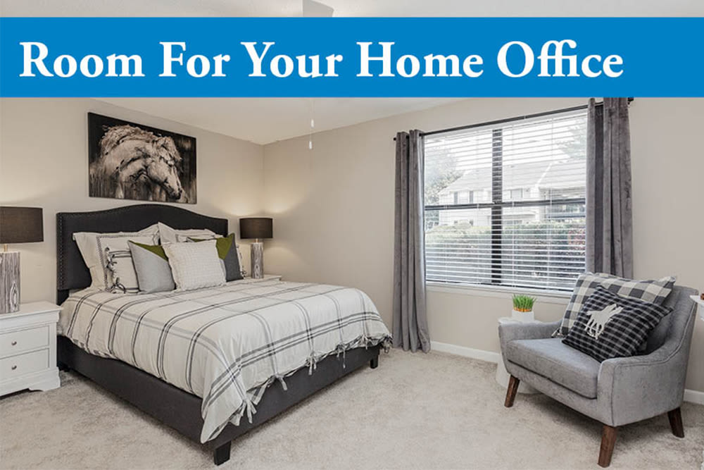 Our Apartments in Nashville, Tennessee have spacious floorplans with room for a home office