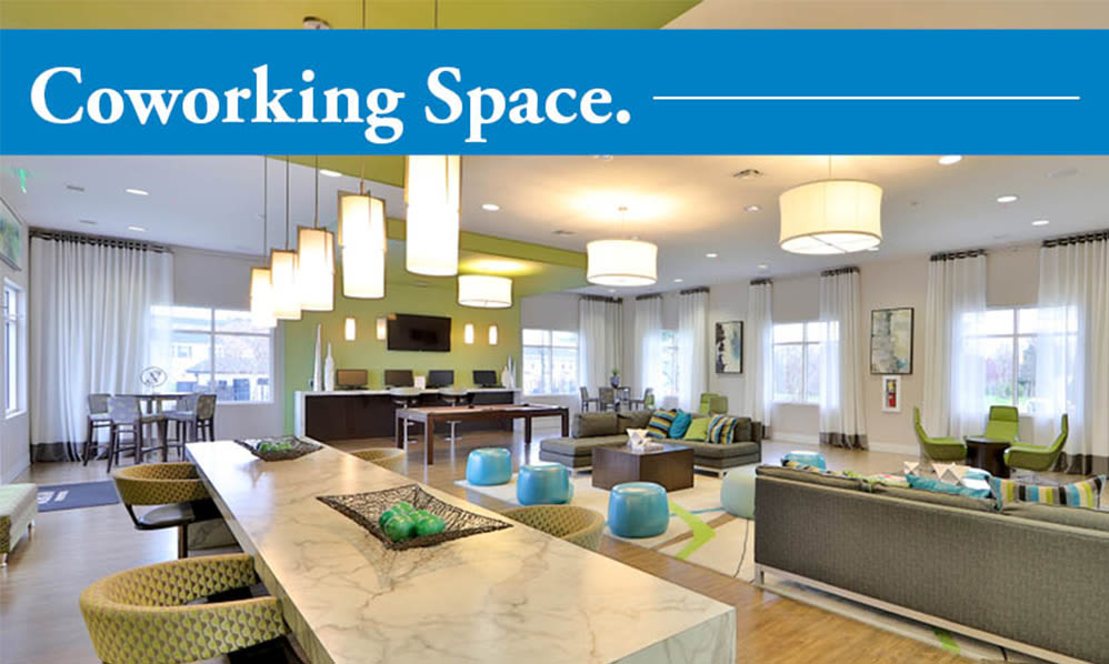 The Townhomes at Diamond Ridge offers coworking space in Baltimore, Maryland