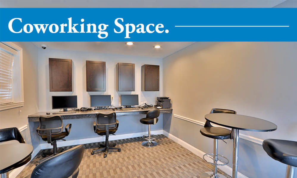 Coworking space at The Village of Chartleytowne Apartments & Townhomes